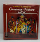 Vintage Christmas Nativity Scene Stained Glass Look Kit By Aaron Brand New