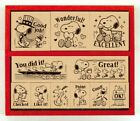 PEANUTS Snoopy Wood Rubber Stamp English 11pcs SDH 112 Showa note Japan
