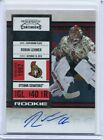 2010 11 Panini Playoff Contenders Season Ticket Robin Lehner RC Rookie Auto