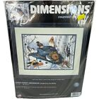 Dimensions 35137 Sunflower Snowman Winter Christmas Counted Cross Stitch Kit