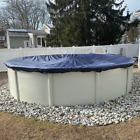 Winter Block Aboveground Pool Winter Cover Fits 18 Round Solid Blue  Inc