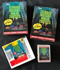 Lot of 1990 TOPPS Teenage Mutant Ninja Turtles Movie 1 WAX BOX + set & more