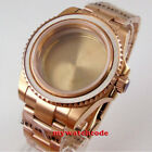 40mm sapphire glass rose golden plated WATCH CASE for NH35 NH36 2824 8215 moveme