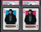 (2) WWF 1991 Playing Cards THE UNDERTAKER Rookie Deadman Wrestling PSA 8