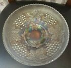 Northwood Grape  Cable Iridescent Opalescent 10 1 4 Master Ice Cream Bowl