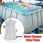 Electric Swimming Pool Filter Pump Above Ground Pool Cleaning Tool Water Cleaner