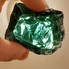 Chunk of Raw Slag Glass Emerald Green  White 4 oz Makes a Cool Paperweight