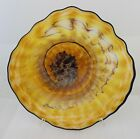 Hand Blown Glass Wall Platter Bowl gold wild wrap 1193 oneil