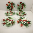 Sydenstricker Fused Glass Strawberry Plates Set of 6