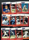13 DIF 1988 STARTING LINEUP CARDS SUPER NICE W/WILLIE MCGEE HERNANDEZ MURPHY