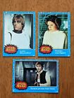 1977 Topps Star Wars Blue Series Trading Cards Skywalker Solo Leia (1, 4, 5) Set