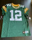 NWT Nike Authentic NFL Aaron Rodgers GB Packers Jersey On Field 40 Retail $325