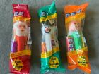 Vintage Holiday PEZ, with Santa, a Snowman, and a Pumpkin head, NEVER OPENED