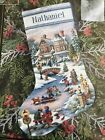 Dimensions The Gold Collection Winters Twilight Stocking Cross Stitch Kit 8666