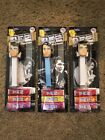 Lot of 3 2018 ELVIS PEZ 1960's 70's STYLE PEZ CANDY DISPENSER YOUNG OLD NEW