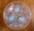Sabino Art Glass France 4 3 8 Trinket Dish with Flowers and Leaves