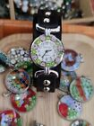 Watch Leather And Murano Glass