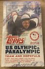 2014 TOPPS U.S. OLYMPIC & PARALYMPIC Hobby Box FACTORY SEALED 1 Auto 2 Relics