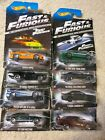 Hot Wheels 2013 Fast  Furious Set of 8 Bad Cards READ Complete