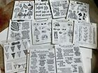 UNMOUNTED Red Rubber Stamps Large Lot Rare Retired Dylusions By Dyan Reaveley