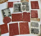 UNMOUNTED Red Rubber Stamps Large Lot Rare Retired Lot  10
