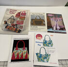lot 5 purse and or tote bag patterns EUC