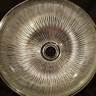 Heavy Vintage Lancaster Industrial Holophane Style Glass Shade 15