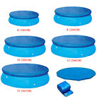 Above Ground Swimming Pool Cover for Summer Round Safety PE Blue 6 8 10 12 Ft