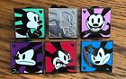 Disney 6 Pins Oswald Lucky Rabbit Expressions Set 2014 Hidden Mickey Shh Chaser