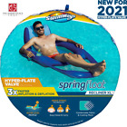 SwimWays Spring Float Recliner XL Inflatable Pool Loungers Chairs Hyper Flate