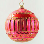 SPODE Ornaments On The Tree Large 4 INCH Sparkling Glass Ball RED no Orig BOX