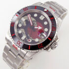 40mm Waves red dial sapphire glass Japan 24 jewels NH35 automatic mens watch