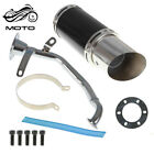 For GY6 150cc Scooter Black Scooter Short Performance Exhaust System Carbon New