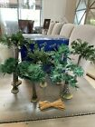Fontanini Nativity Palm Trees Various Sizes Selling All 7 Together