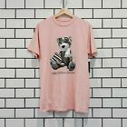 PAPER PLANES AVIATOR BEAR TEE WASHED PINK