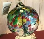 Kitras Art Glass Tree of Enchantment Ball 6 Hand Blown Glass ORB New in Box