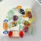 Vintage Art Glass Candy Wrapped Colorful Murano Hand Blown 9 Pieces
