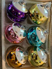 6 LG 3 Vintage CHRISTMAS ORNAMENTS WITH PLASTIC CAPS made in AUSTRIA NICE