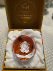 Rose Sulphide Paperweight Four Seasons Summer Bayel Paperweight LE 380 BOX