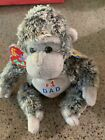 TY POPS the FATHER'S DAY GORILLA 2.0 BEANIE BABY - NEW w/TAGS - UNUSED CODE