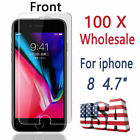 Lot 100 Tempered Glass For Apple iPhone 6 6S 7 8 Plus X XS XR 11 12 13 Pro Max