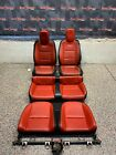 2011 CHEVROLET CAMARO SS CONVERTIBLE ORANGE LEATHER FRONT REAR SEATS MOLDY