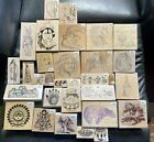 Rubber Stamp Lot Wooden Stamps Native American Indian Tribal Spiritual 201
