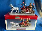 Lemax Village Collection Volunteers Firefighters 2000 Horse Drawn Pumper Wagon