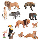 Volnau Animal Toys Figurines Africa Animals Figures Zoo Pack for Kids Christmas