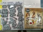 Tim Holtz Cling Rubber Stamps CRAZY Dogs CMS271  Thinlits Dies 661593 Set