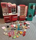 Our Generation RED KITCHEN SET and WASHER DRY for 18 Dolls fits American Girl