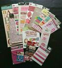 Scrapbooking Stickers Girl Dimensional Textures Pocket Ribbon Labels Lot 215+ Ct