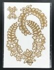 Anna Griffin LAUREL Leaf Wreath Bees Cut and Emboss Dies Set of 3 NEW