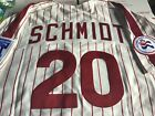 Authentic Mike Schmidt Michell and Ness Philadelphia Phillies 1976 Home Jersey